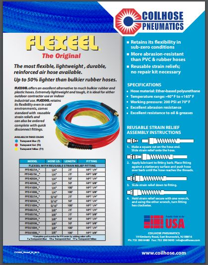 Flexeel Hose Sellsheet